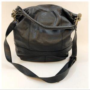 Liebeskind Berlin Black Pebbled Leather Hobo Bag